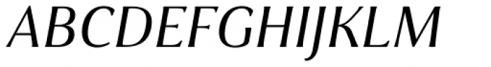 Cabrito Flare Extended Medium Italic Font UPPERCASE