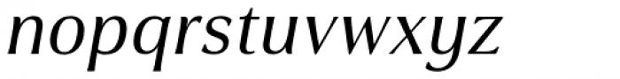 Cabrito Flare Extended Medium Italic Font LOWERCASE