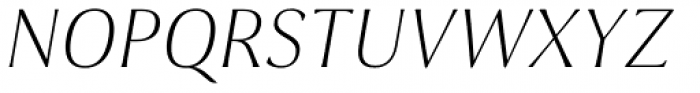 Cabrito Flare Extended Thin Italic Font UPPERCASE