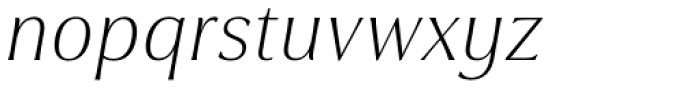 Cabrito Flare Extended Thin Italic Font LOWERCASE