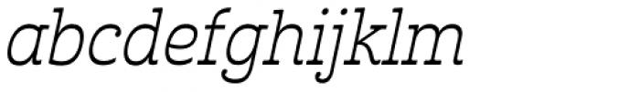 Cabrito Inverto Book Italic Font LOWERCASE