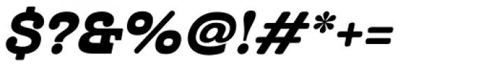 Cabrito Inverto Ext Black Italic Font OTHER CHARS