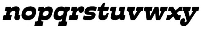 Cabrito Inverto Ext Black Italic Font LOWERCASE