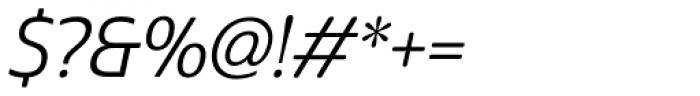 Cabrito Sans Regular Italic Font OTHER CHARS