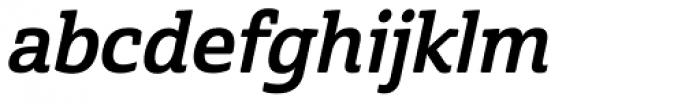 Cabrito Semi Bold Italic Font LOWERCASE