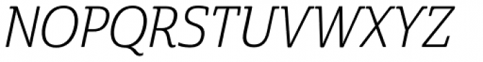 Cabrito Semi Con Book Italic Font UPPERCASE