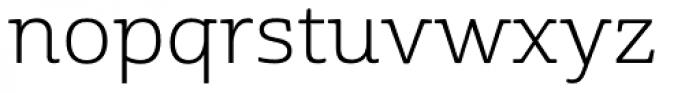 Cabrito Semi Ext Book Font LOWERCASE