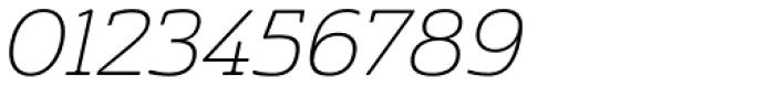 Cabrito Semi Ext Thin Italic Font OTHER CHARS