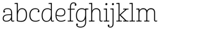 Cabrito Thin Font LOWERCASE