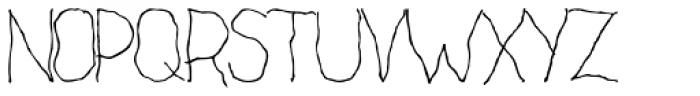 Cack-handed Font UPPERCASE
