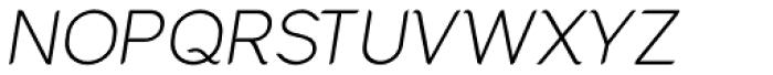 Cacko Italic Extra Light Font UPPERCASE