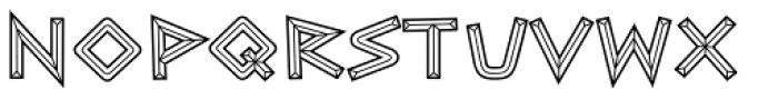 Caesar Brute BTN Chiseled Font UPPERCASE