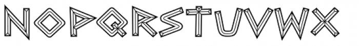 Caesar Brute BTN Chiseled Font LOWERCASE