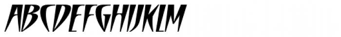 Cafe De Paris Italic Font UPPERCASE