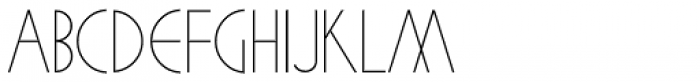 Cafe Society Monoline JNL Font LOWERCASE
