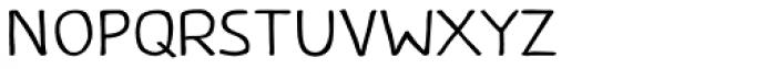 Caffeine Light Font LOWERCASE