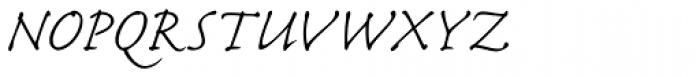 Caflisch Script Pro Light Font UPPERCASE