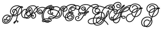 Cake Script Fat Font UPPERCASE