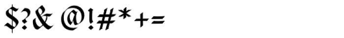 Cal Fraktur Modern Font OTHER CHARS