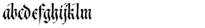 Cal Fraktur Modern Font LOWERCASE