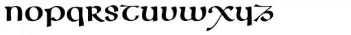 Cal Insular Majuscule Font LOWERCASE