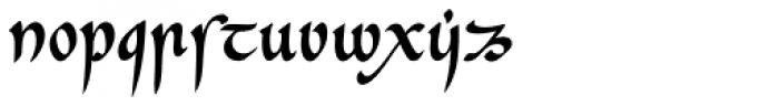 Cal Insular Minuscule Font LOWERCASE