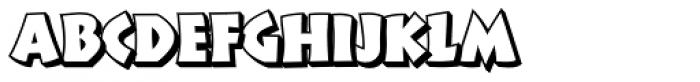 Cal Neuland Shadow Font LOWERCASE