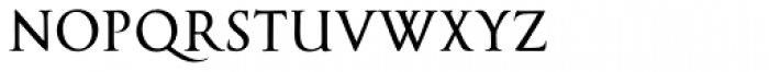 Cal Roman Capitals Font LOWERCASE