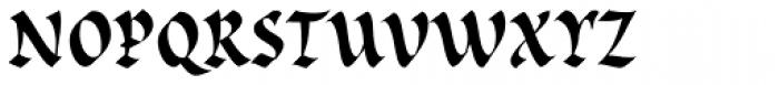 Cal Rustic Black Font LOWERCASE