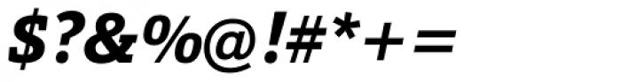Calanda Extra Bold Italic Font OTHER CHARS