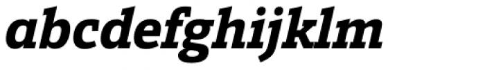 Calanda Extra Bold Italic Font LOWERCASE