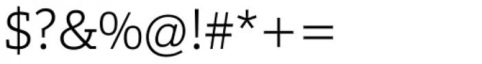 Calanda Extra Light Font OTHER CHARS
