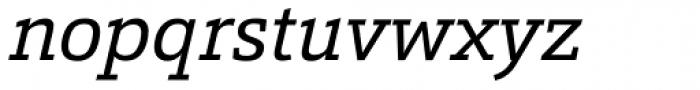 Calanda Italic Font LOWERCASE