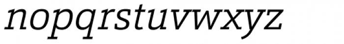 Calanda Light Italic Font LOWERCASE