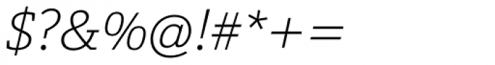 Calanda Thin Italic Font OTHER CHARS