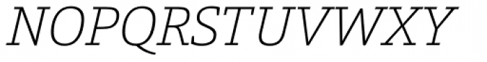 Calanda Thin Italic Font UPPERCASE