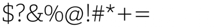 Calanda Thin Font OTHER CHARS