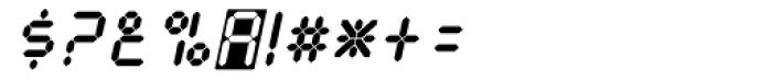 Calculus Oblique Font OTHER CHARS