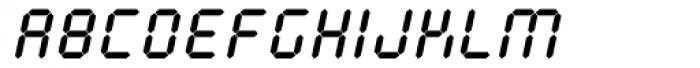 Calculus Oblique Font UPPERCASE