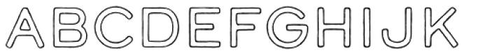 Calder Dark Outline Font UPPERCASE