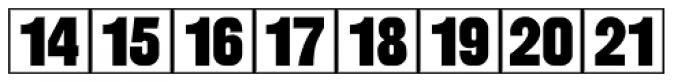 Calendar Blocks JNL Font UPPERCASE