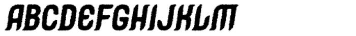 Caleuche Rough Oblique Font UPPERCASE