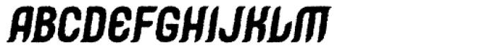 Caleuche Rough Oblique Font LOWERCASE