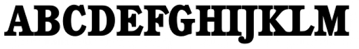 Calgary Serial ExtraBold Font UPPERCASE