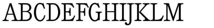 Calgary Serial ExtraLight Font UPPERCASE