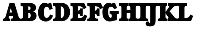 Calgary Serial Heavy Font UPPERCASE