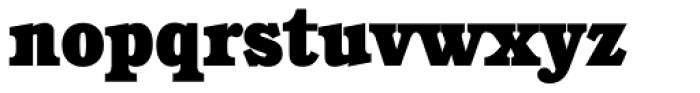 Calgary Serial Heavy Font LOWERCASE