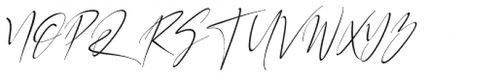 California Street Thin Italic Font UPPERCASE