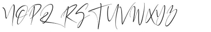 California Street Thin Font UPPERCASE