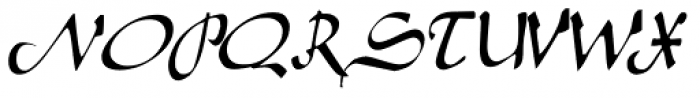 Caliph Font UPPERCASE